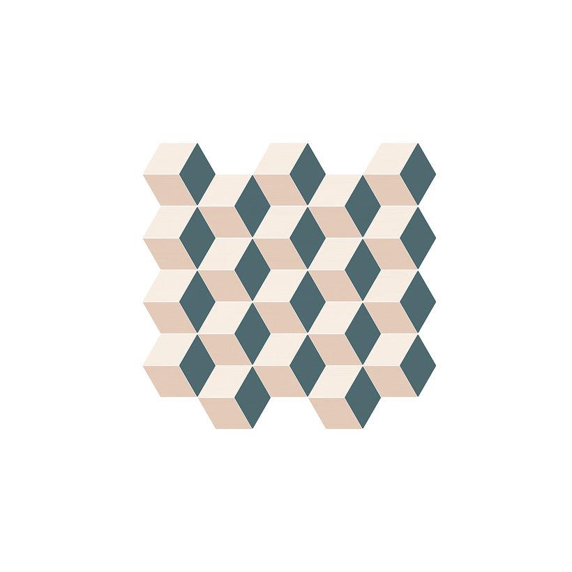 ITALON Элемент Мозаика Куб Колд 30,5x33  Матовая